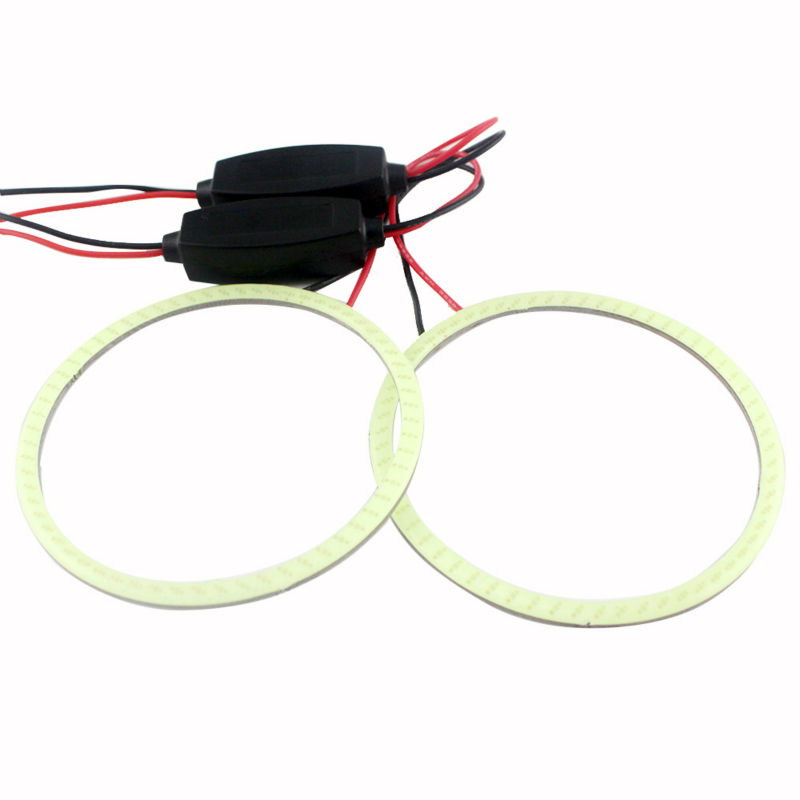 1pair(2 piece)Auto Halo Ring COB 110mm 82SMD led Headlight Car Angel Eyes lens light foglights sideligt lens12V/24V(China (Mainland))