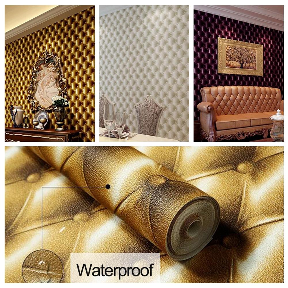 Aliexpress Com Buy 3d Walls Wallpaper Rolls Photo Wall: 3D Modern Imitation Leather Vein Wallpaper Roll For Walls