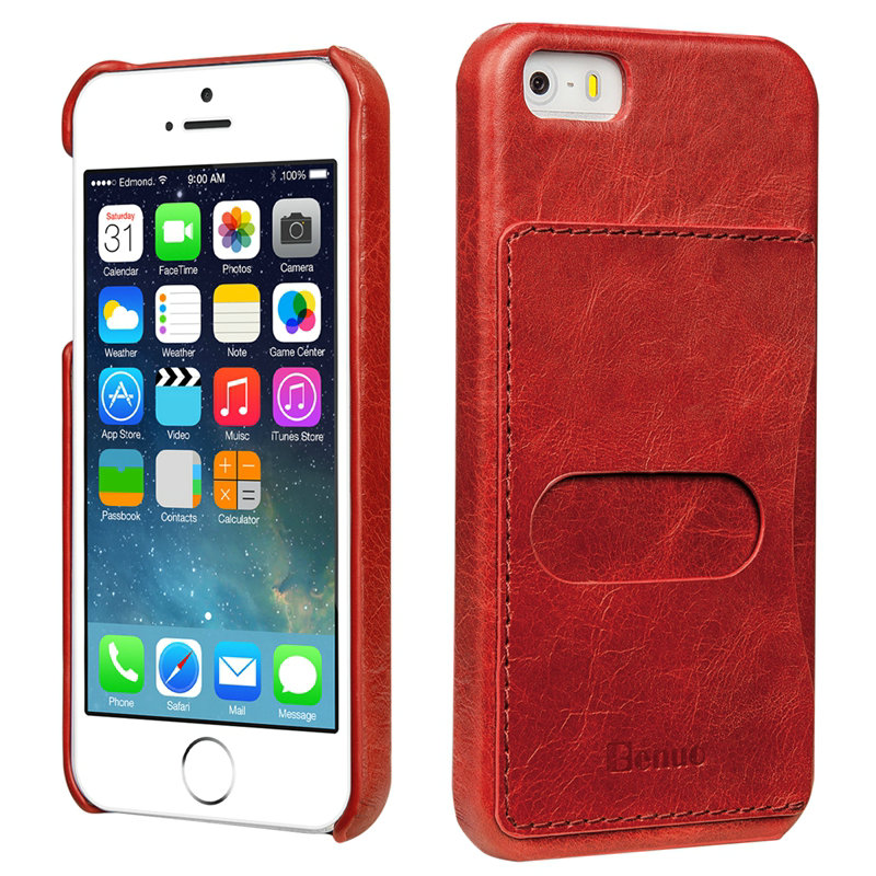 Newest RMD TECH Luxury Vintage Cowhide Leather Cover Case For iPhone 5 5S Apple Brand Cases For iPhone 5 Case Phone Coque Fundas(China (Mainland))