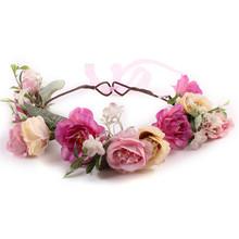 Buy Fashion New Women Bohemia Handmade Flower Crown Wedding Wreath Bridal Headdress Lady Headband Princess Hair Band Accessories F2 for $3.19 in AliExpress store