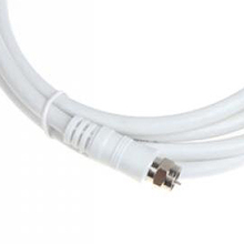 JFBL Hot sale White 6.6ft 9.5mm 90 Degrees Male to F type Male Coaxial TV Satellite Antenna Cable