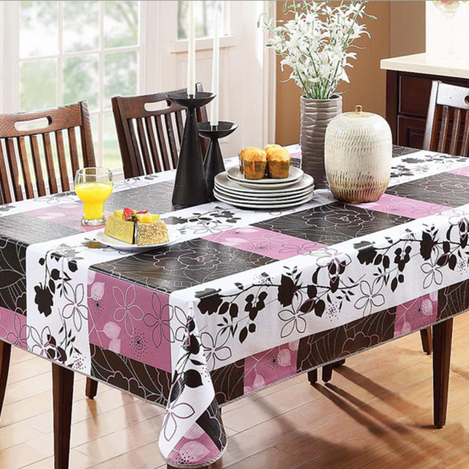 Transparent pvc tablecloth crocheted table cloth purple - Manteles para mesa ...