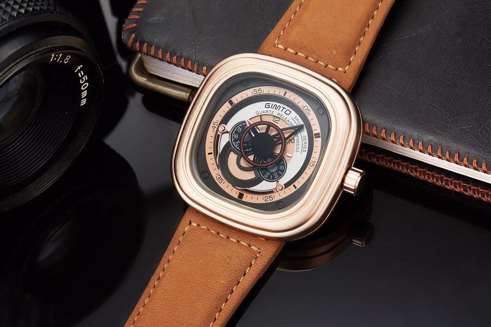 2016 Новый Роскошный Дизайн высокого качества Часы Мужчины Военная Стильный спорт Армия Бизнес Кожаные Мужские Часы Часы relogio masculino