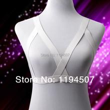 Buy Wholesale 2014  NEW White Elastic Waist Bondage Kawaii Goth Kinky Harness Burlesque Lingerie Neck Garter Strap Bralette