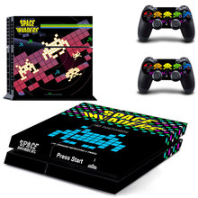 Space Ihvaders ps4 skin New Game Figure Skin Sticker For Sony PS4 Playstation 4 Console & 2 Controller Skins 010