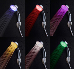 Led shower colorful magic shower head led light Faucet bathroom accessories