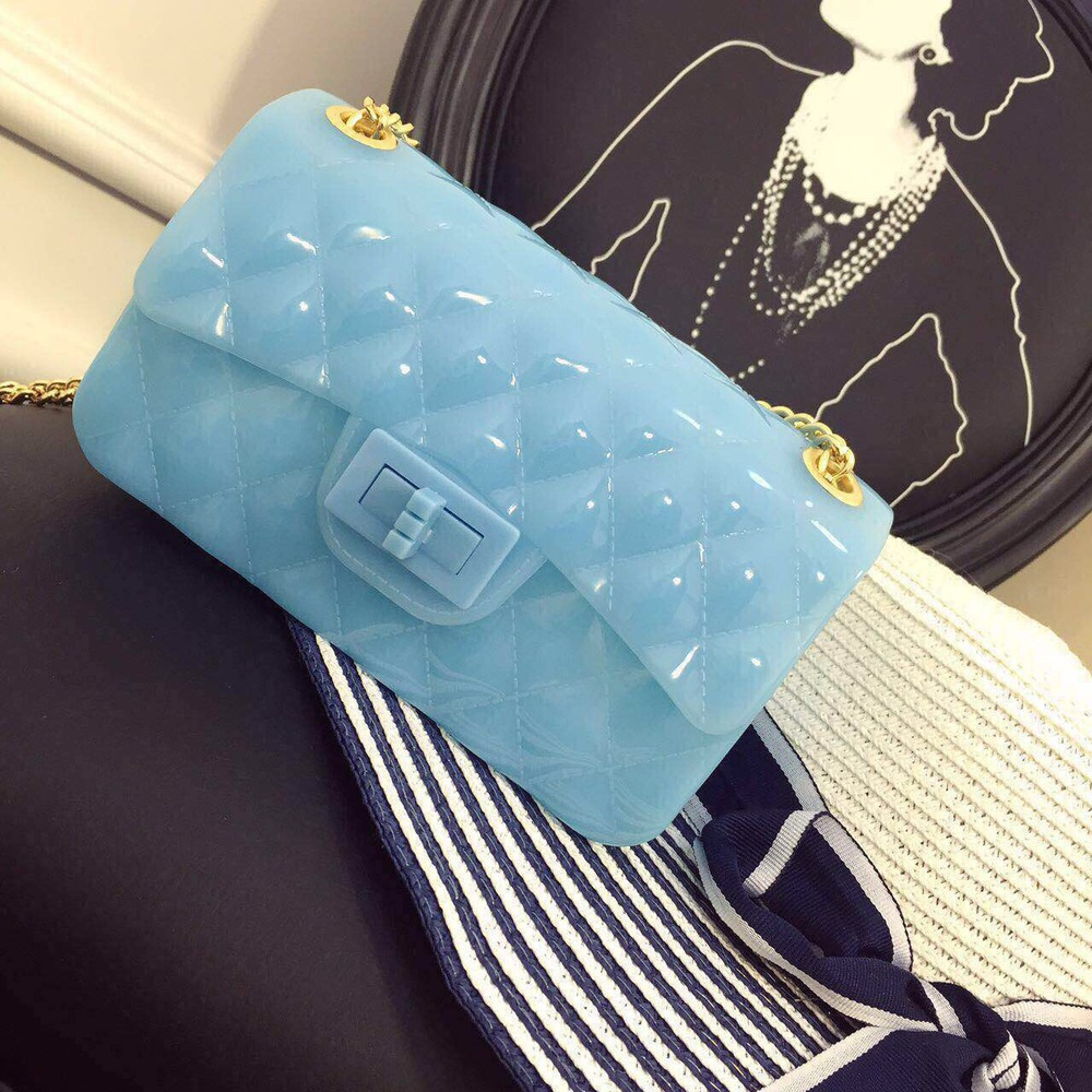 2015 spring and summer solid silicone chain fashion handbags(China (Mainland))