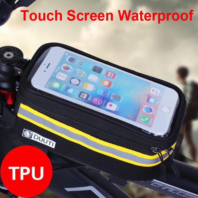 """New 4.8"""" 5.7""""Cycling Bike Bicycle bags Frame Front Tube Bag For Cell Phone MTB Bike Touch Screen Bag For iphone 6 Plus(China (Mainland))"""