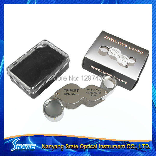 All Metal Promotional Diamond Jewelers Loupe with Double lens<br><br>Aliexpress
