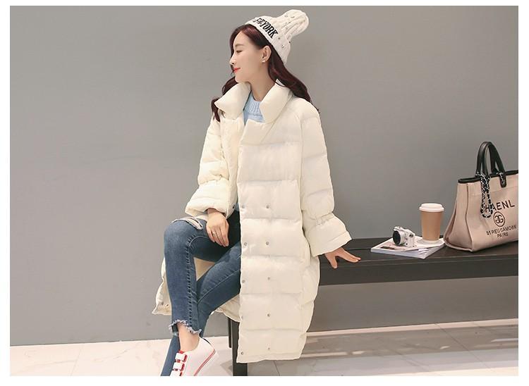 Скидки на Женщины зимнее пальто 2017 новый Корейский средней длины пуховик большой размер вскользь пальто хлопка толстые теплые женщины куртка AB344