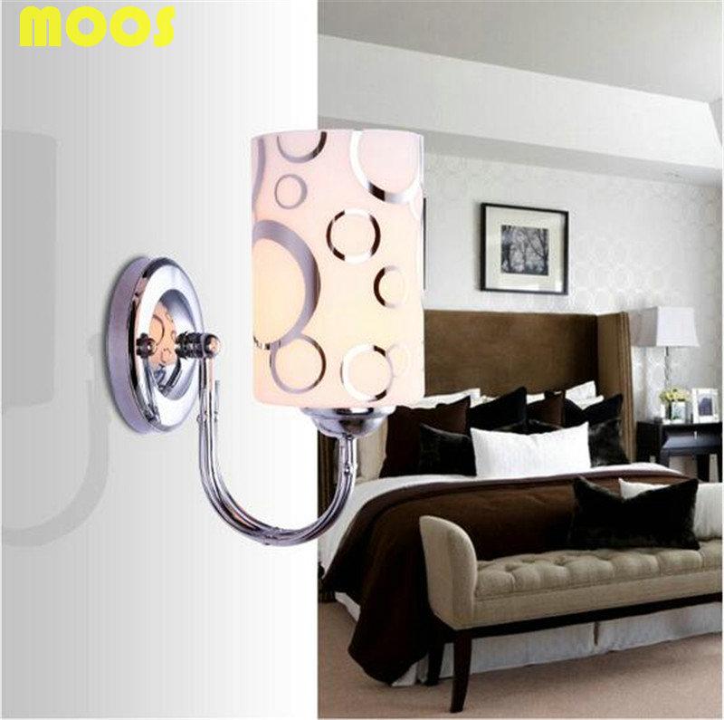 Фотография  Modern Brief LED Wall Lamps Bedroom Bedside Wall Light kitchen cabinet Wall Sconce luminaria abajur wall Decor Warm white light