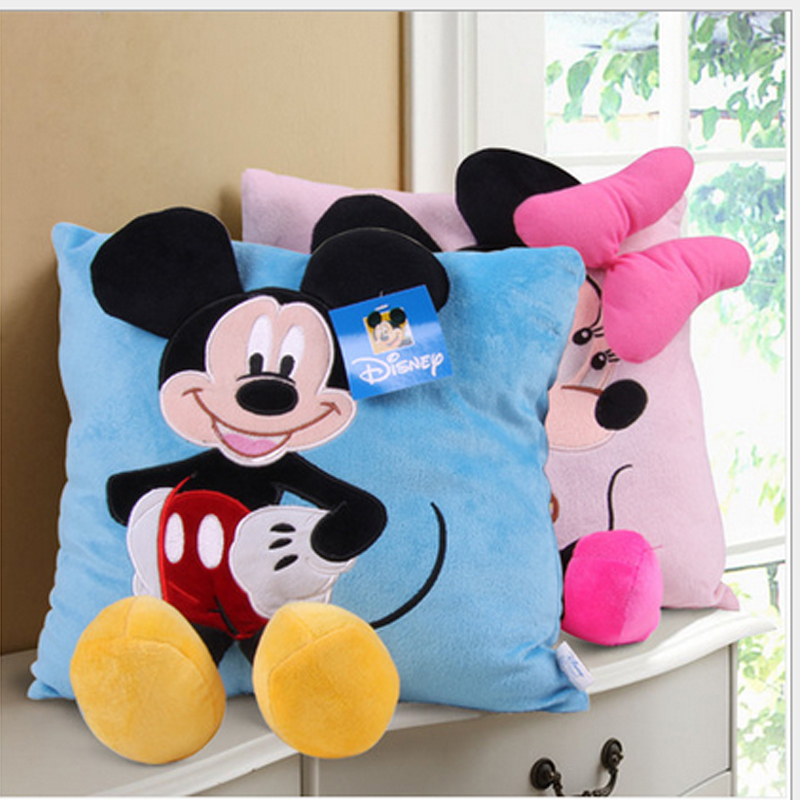 Free Shipping baby toy soft and plush Micky mouse Minnie mouse cushion pillow super cute plush toy Christmas gift for kids(China (Mainland))