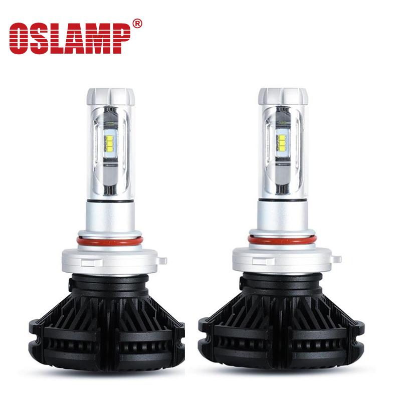 Oslamp X3 9005/HB3 CSP Chips LED Headlight Bulb 6000lm Single Beam DIY Firm 3000k 6500k 8000k 12V 24V LED Lamp Front Bulb(China (Mainland))