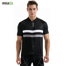 Buy Wosawe Men Cycling Jersey Summer Breathable Anti-sweat Mountian Bike Jersey Full Zipper Cycling Clothing Bicycle Shirt MTB for $16.98 in AliExpress store