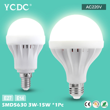 Buy YCDC 1pc 220v led bulb lamp E14 B22 Cool/warm white 3W/5W/7W/9W/12W/15W led bulb e27 base spot light ball lampada LED Light Bulb for $1.16 in AliExpress store