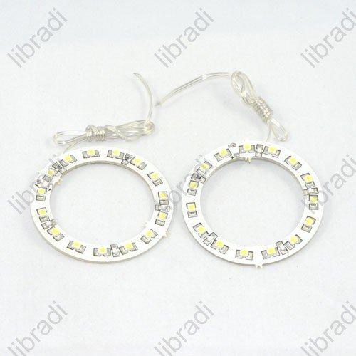 1pair Car Angel Eyes light Headlight 15 SMD 3528 1210 1W LED Ring 60mm White -1011294948(Hong Kong)