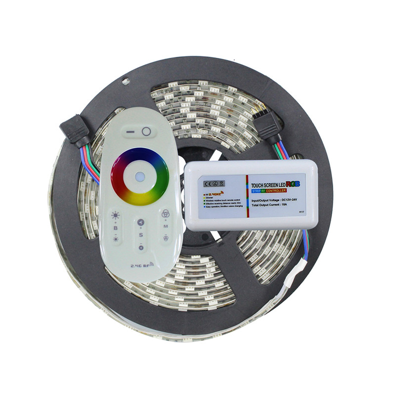 Waterproof 5050 RGB led strip +2.4G RGB led controller  5M 300led led tape  DC12V flexible led tape bar light<br><br>Aliexpress