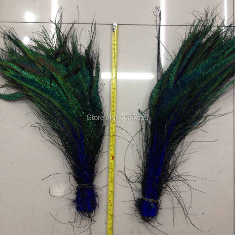 Wholesale peacock feather feather sword! sapphire 50pcs high-quality natural peacock feathers, 12-16 inches / 30-40cm DIY(China (Mainland))