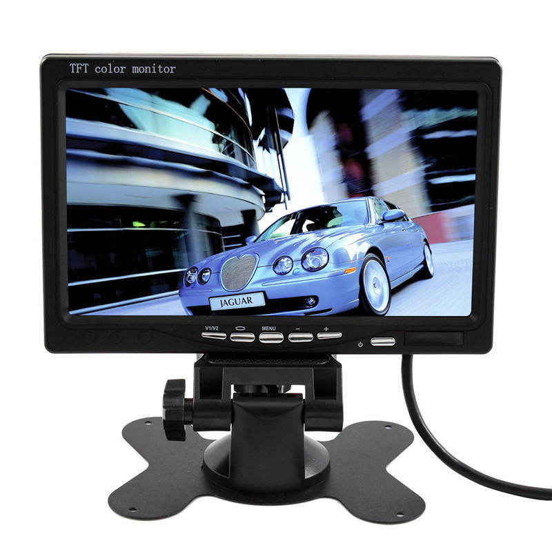 2015 High Quality New Arrival 7 Inch TFT LCD Color Car Rear View Monitor VGA DVD VCR For Reverse Backup Camera(China (Mainland))