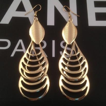 Hot sales Brand Design New Gold-plated Fashion Elegant Multi-leaf drop pendant tassels earrings jewelry for women 2014 PT31