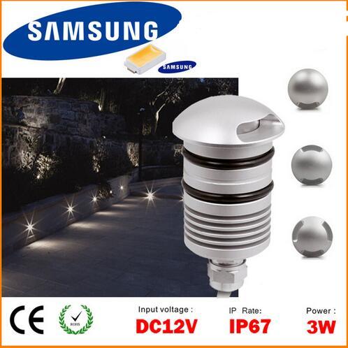 IP67 3W 12V LED Underground Light Outdoor Landscape Lighting Recessed Spot Light Kit Patio Pavers LED Floor Deck Stair Lamp(China (Mainland))