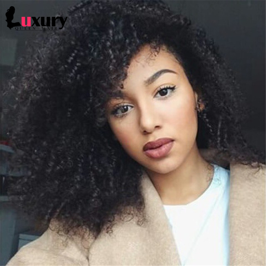 Lace Front Wigs Unprocessed Virgin Full Lace Wig Glueless Brazilian Virgin Human Hair Full Lace Wig Kinky Curly For Black Women<br><br>Aliexpress