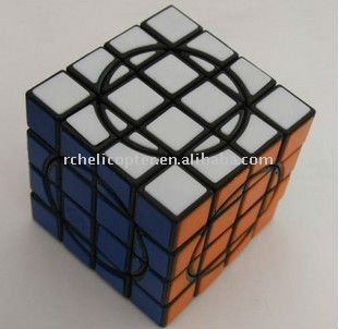 MF8 Crazy 4x4 II Speed Cube Black Magic Cube Puzzle(China (Mainland))