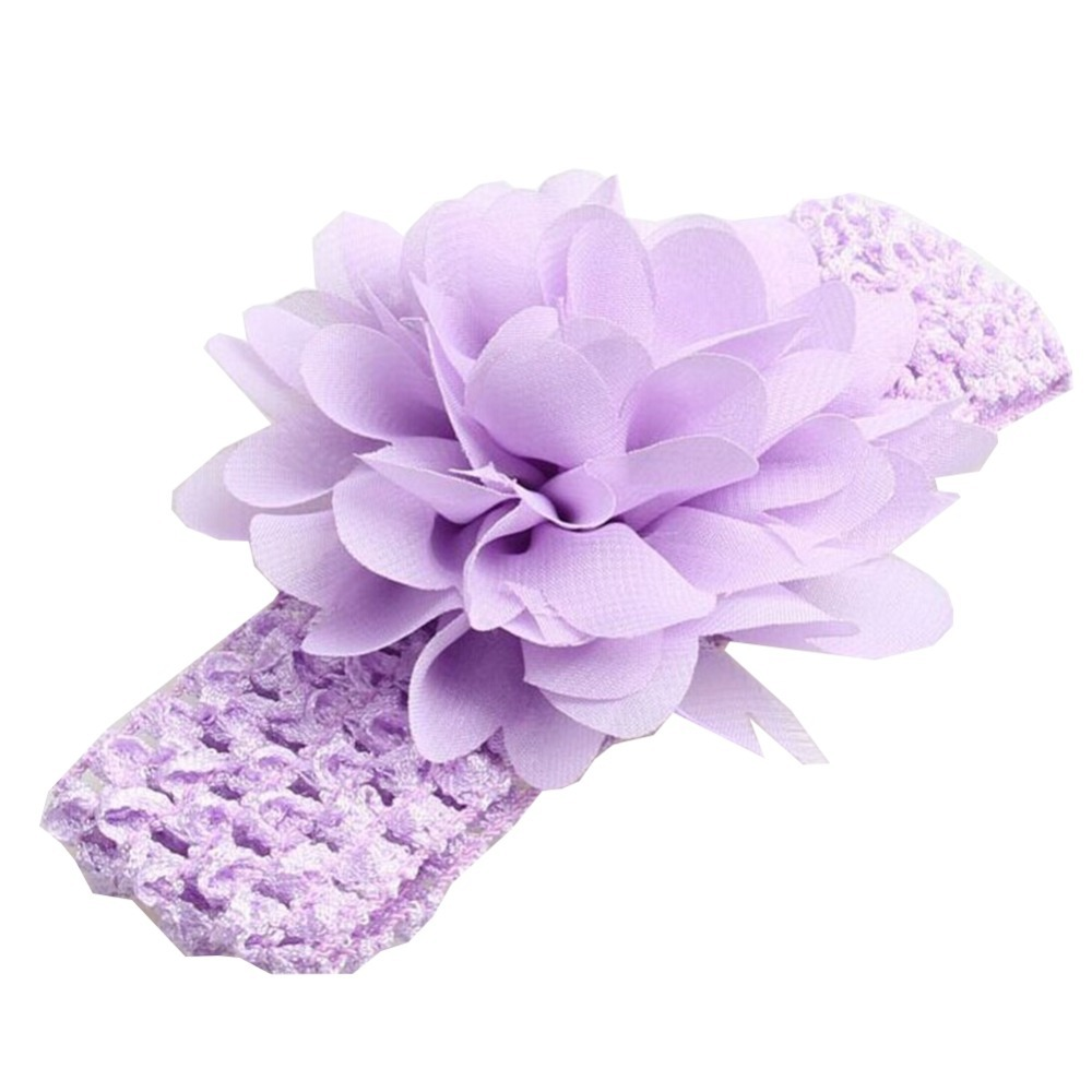 1Piece of Elastic Baby Headbands Cloth Hairwear for Cute Girls Fashion Flower Headbands for Girls 10 Colors to Choose(China (Mainland))
