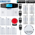 LCD Keyboard RU SP EG FR IT Voice Wireless SMS Home GSM Alarm system House intelligent