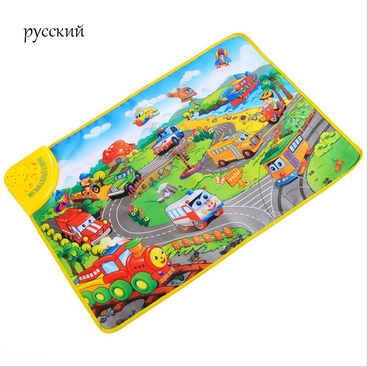 2015 Russian language baby music play mats character Vehicle toddler education pads<br><br>Aliexpress