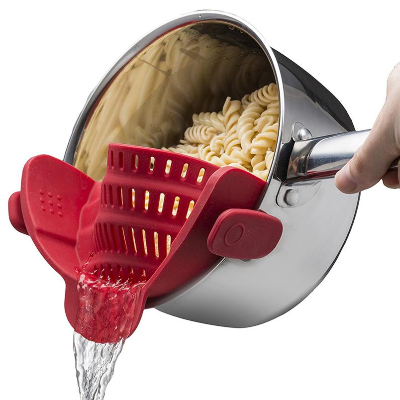 saingace silicone utensili da cucina 2017 nuova cucina extra silicone clip on a scatto e strainer clip colino 30 regalo goccia