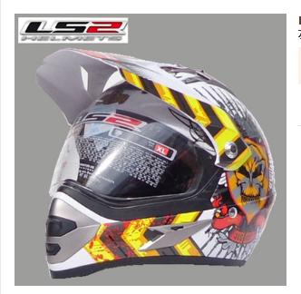 Free shipping authentic LS2 MX433 with lens off-road racing helmet motorcycle helmet helmet full helmet with two runs<br><br>Aliexpress