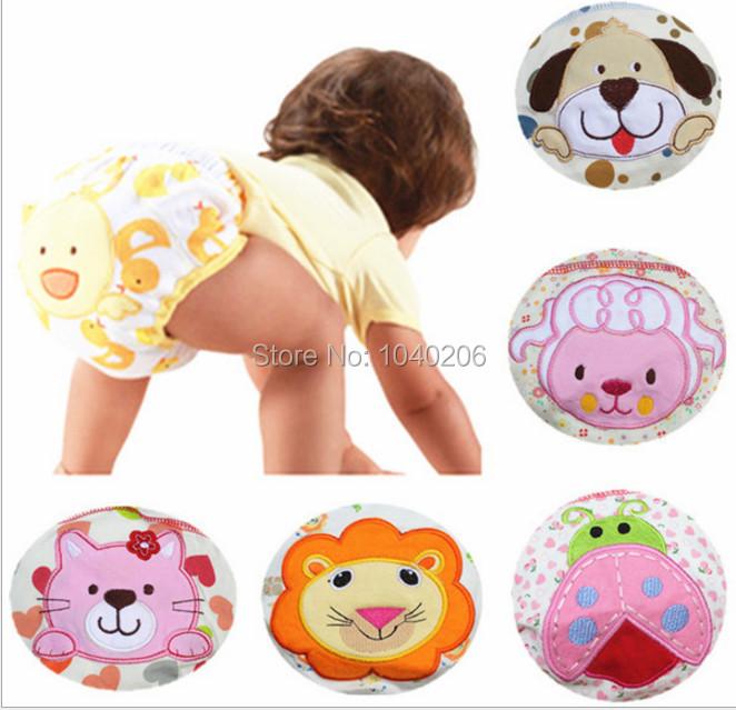 CHILDREN baby waterproof underpants girls boys potty training pant COTTON reusable kid briefs underwear diaper panties 5PCS/LOT(China (Mainland))