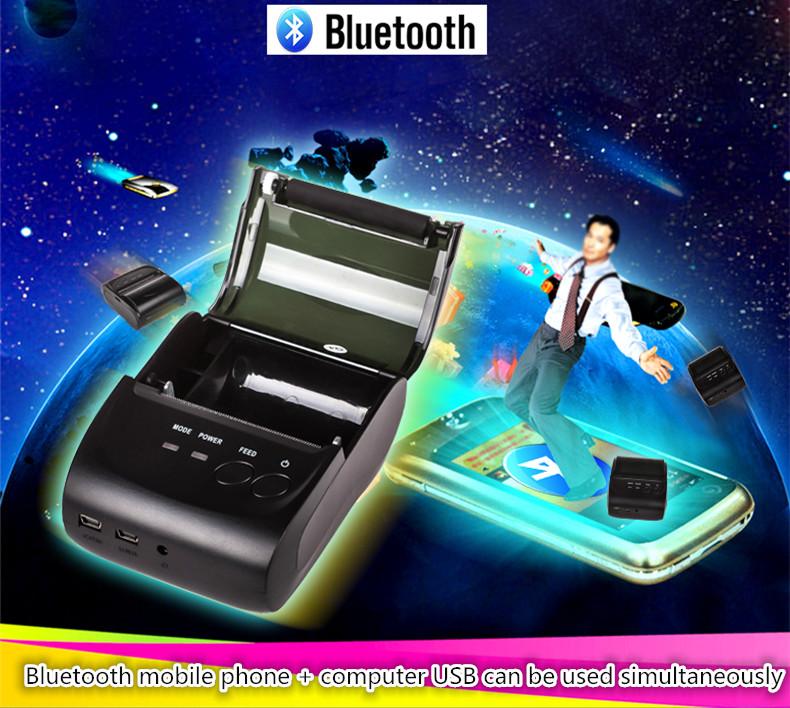5802 Mini Bluetooth printer Takeout small ticket printer Bluetooth wireless portable thermal printer print