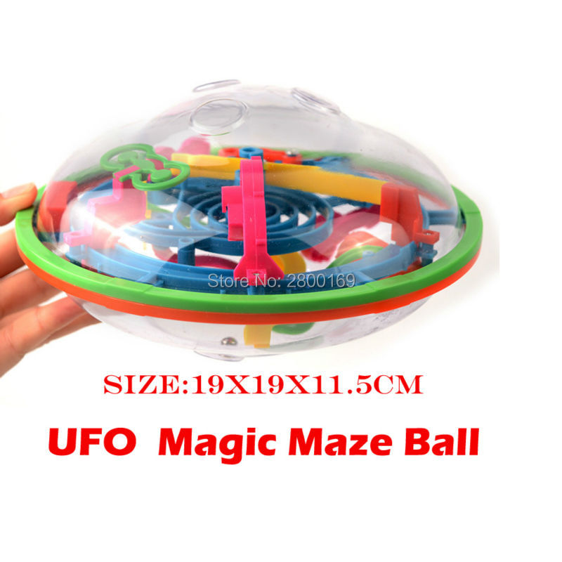 99 Steps UFO Shape 3D puzzle Ball Perplexus Magical Intellect Ball IQ Balance Educational Toys Ability Game For Children adults(China (Mainland))