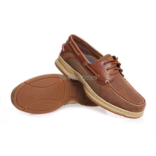 2015 new arrival men boat shoes genuine leather mocassine shoes quality men hand sewing leisure shoes plus sizes free shipping(China (Mainland))