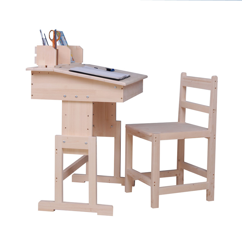 Wood study tables pine furniture teenagers desk desk computer desk table with shelves for children of low-(China (Mainland))
