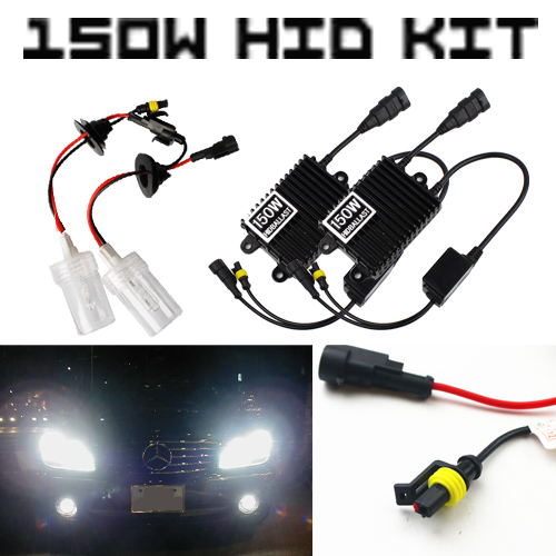 Super Bright! High Power! 150W H7 4300K 6000K 800K HID Headlight Driving Fog Light Conversion KIT Xenon White AC Digital Ballast