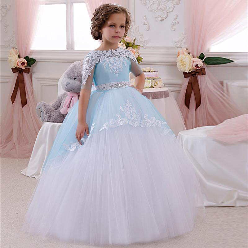 Cute lovely little flower girl dresses for wedding half for Little flower girl wedding dresses