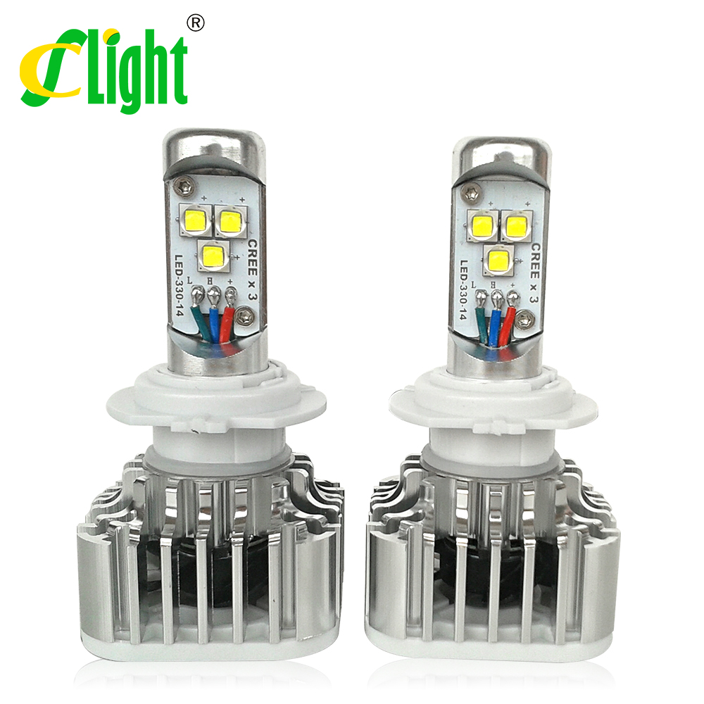 2x Real New Arrival  High Lumen CREE LED CAR HEADLIGHT LAMP H7 Suitable for All Cars Trucks<br><br>Aliexpress