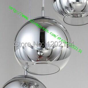 Tom Dixon Copper /silver Mirror Ball Lustre Chandelier LED Pendant Globe Mirror Glass Ball Bubble Lamp Christmas Light Fixture(China (Mainland))