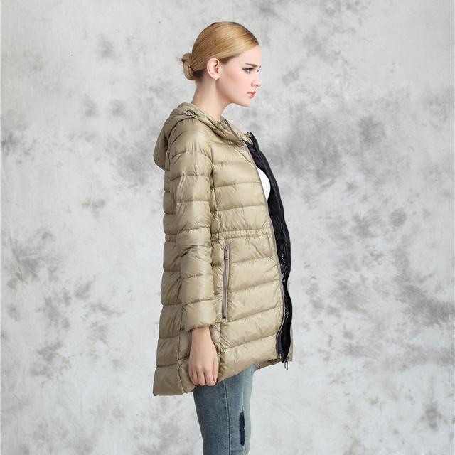 Snowka 2015 Brand Winter Down Jacket Женщины Cloak Outwear 90% Light Тонкий 90% ...