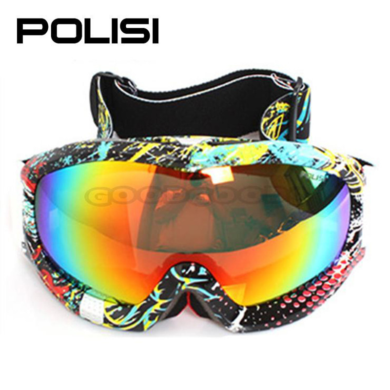 POLISI P812-YE Outdoor Sport  Anti-Impact Anti-Fog snowboard goggles Goggles for Hunting ski snowboarding Motorcycle Sled Skate