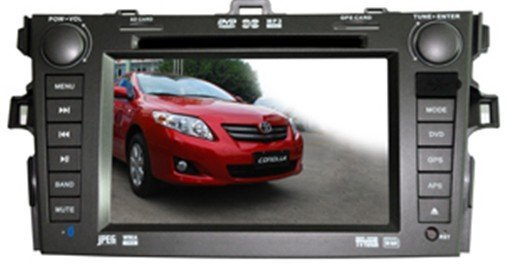 "2din 7"" TOYOTA-COROLLA car player with DVD, GPS, Radio, Bluetooth, MP5, IPOD, USB"