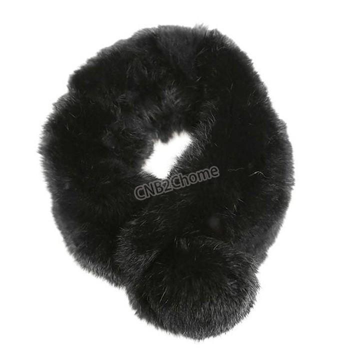 Women's Ladies Fashion Winter Warm Faux Fur rabbit long hair winter hood scarf SV012852(China (Mainland))