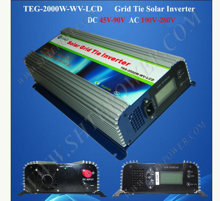 220V grid tie inverter, on grid tie solar power inverter 2000W, 48V to 220V(China (Mainland))