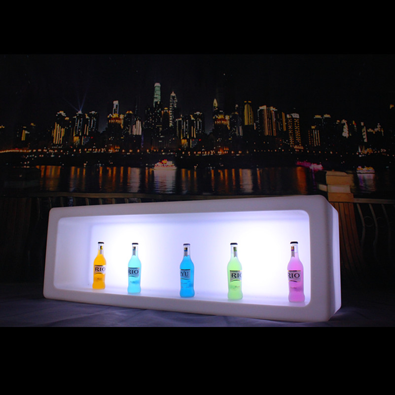 120*40*40cm rgbw colours changing pe plastic lighting up led ice bucket for bottle display in lounge(China (Mainland))