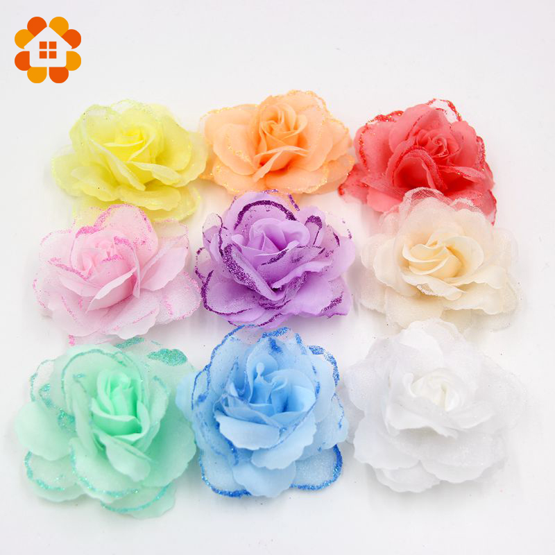10pcs 7cm Transparent Color Plum Artificial Flower Heads For Wedding Decoration DIY Wreath Gift Scrapbooking Craft Flower(China (Mainland))