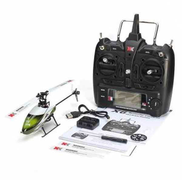 XK K100 Falcom 6CH Flybarless 3D6G System toy RC Helicopter RTF(China (Mainland))
