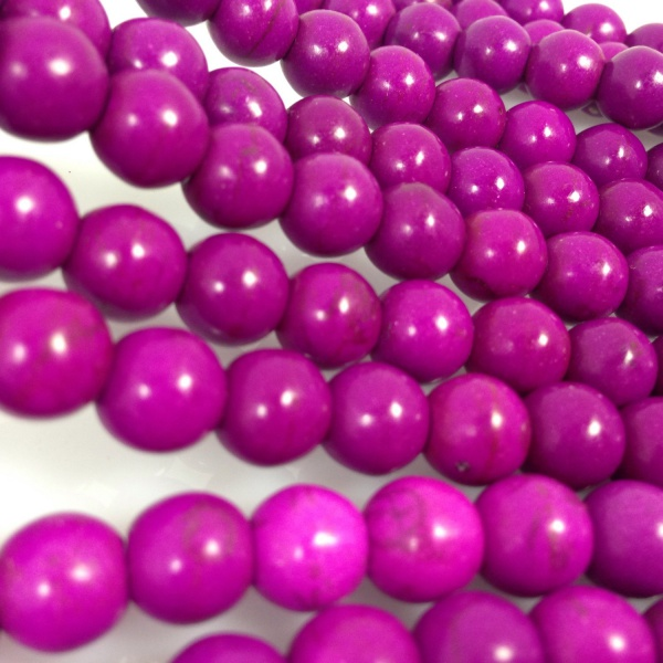 Diy Loose beads 8mm Round owl Purple Turquoise howlite Beads Approx 50Pcs(China (Mainland))